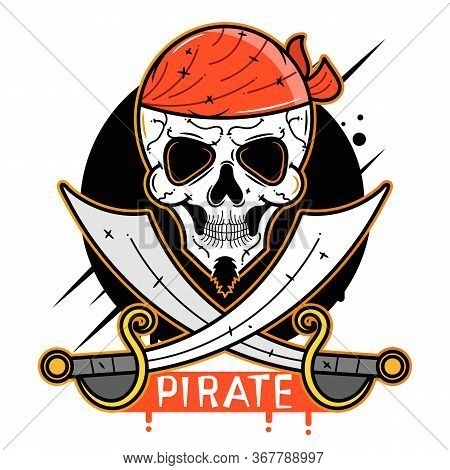 Pirate Skull Vector Suitable For Greeting Card, Poster Or T-shirt Printing.