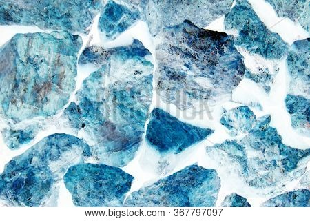 Texture Background Blue Marble. Sky Blue Texture Of Marble Floor.