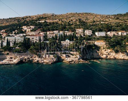 Dubrovnik, Croatia - 27 June 2019: Aerial View Of The Territory Of Grand Villa Argentina And Villa S