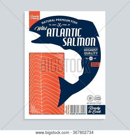 Vector Atlantic Salmon Packaging Illustration