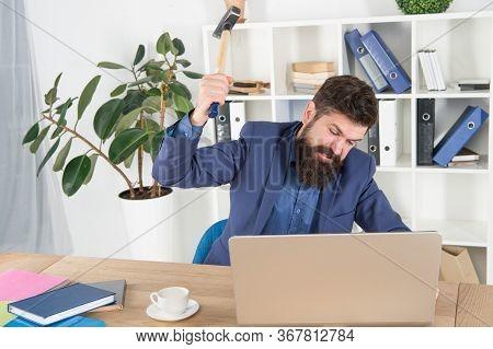 Software License Agreement. Destroy Laptop. Hateful Job. Bad Computer. Slow Internet Connection. Out