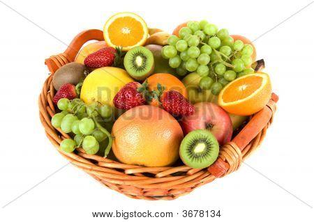 frisches Obst im Korb