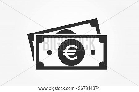 Euro Bill Icon. Vector European Union Cash And Money Symbol. Financial And Banking Infographic Desig