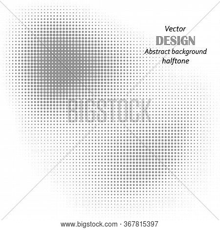 Black Dots On White Background. Halftone Background. Vector Halftone Dots. Halftone On White Backgro