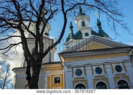 View Of The Church Of St. Catherine The Great Martyr (the Estonian Orthodox Church Of Moscow Patriar