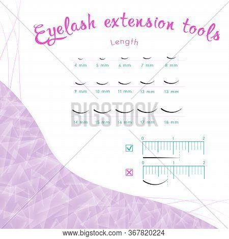 How To Measure Eyelash Length Table With Lengths