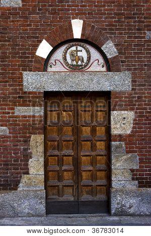 Door In The San Babila Church
