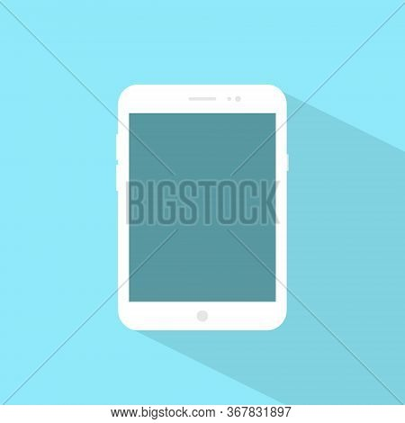 Tablet Computer Flat Design Vector. Modern Tab Icon Image
