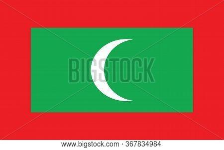 Maldives Flag Vector Graphic. Rectangle Maldivian Flag Illustration. Maldives Country Flag Is A Symb