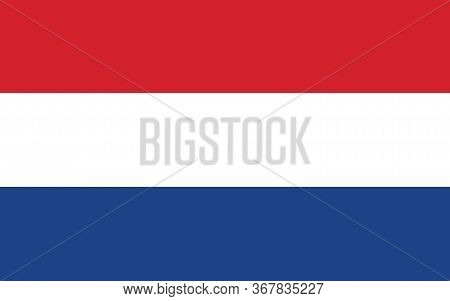 Netherlands Flag Vector Graphic. Rectangle Dutch Flag Illustration. Netherlands Country Flag Is A Sy
