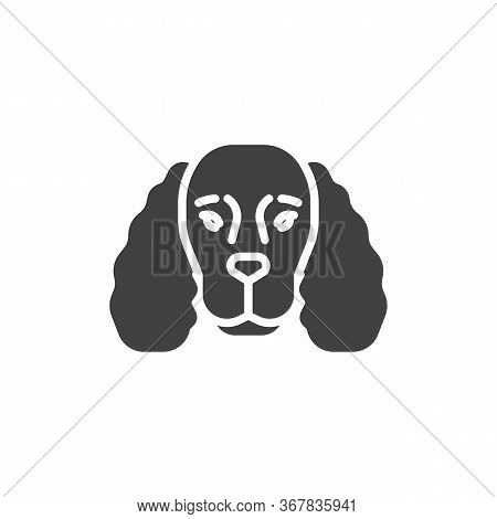 Cocker Spaniel Vector Icon. Filled Flat Sign For Mobile Concept And Web Design. Cocker Spaniel Dog B