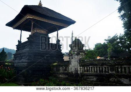 Ancient Building Of Pura Ulun Danu Bratan Or Pura Bratan Hindu Shaivite Shiva Temple Archaeological
