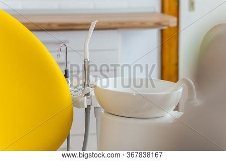 Medical Equipment And Stomatology Concept, Yellow Dentistry