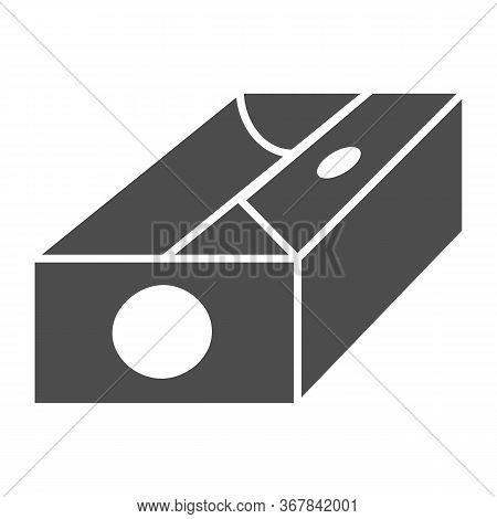Sharpener Solid Icon, Stationery Concept, Device For Sharpening Pencil Sign On White Background, Pen