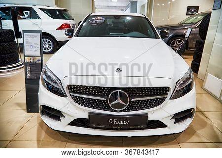 Kirov, Russia - May 07, 2019: Car In Showroom Of Dealership Mercedes In Kirov