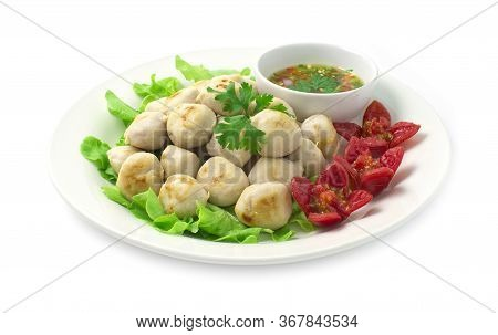 Pork Ball Grilled And Spicy Deepping Sauce