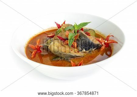 Thai Spicy Catfish In Curry Chili Paste Hot Soup Coconut Milk