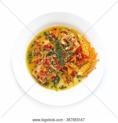 Salmon Spicy Stir Fried With Thai Herbs