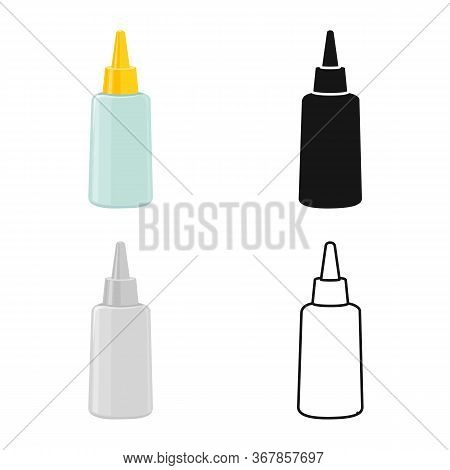 Isolated Object Of Tube And Sealant Icon. Graphic Of Tube And Super Vector Icon For Stock.