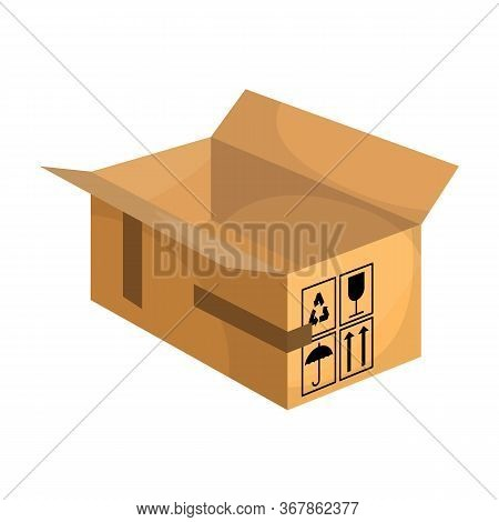 Box Vector Icon.cartoon Vector Icon Isolated On White Background Box.