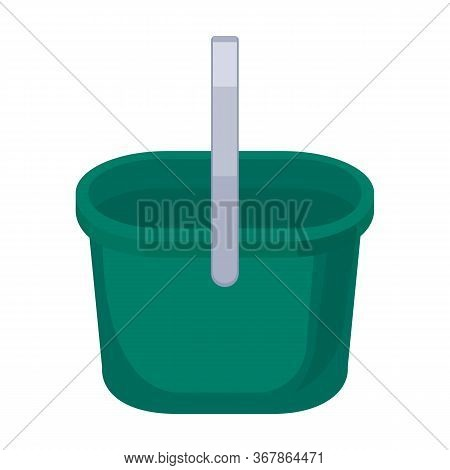 Bucket Vector Icon.cartoon Vector Icon Isolated On White Background Bucket.