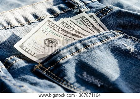 Close-up  Of  100  Dollars  Which Represents   Concept Regarding The Sexuality Of People And The Sal