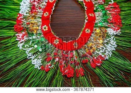 Auspicious Hindu Wedding Grass Garland Made Of Bermuda Grass Dubo For Bride And Groom, Hindu Wedding
