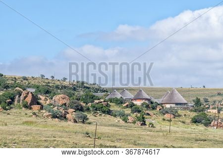 Golden Gate Highlands National Park, South Africa - March 6, 2020: A View Of The Basotho Cultural Vi