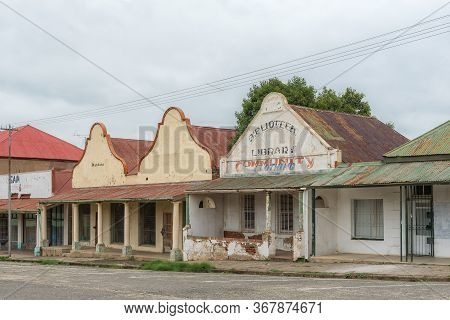 Winburg, South Africa - March 1, 2020: A Street Scene, With Historic, Old, Buildings, In Winburg, A
