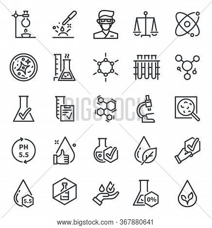 Quality Tested Icons. Dermatology, Artificial Free Or Hypoallergenic Symbol. Skin Tests, No Flavor A