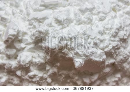 Closeup Of Cooking White Powder Starch Carbohydrate Cooking Thickener.