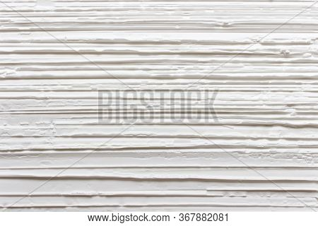 Simple Creative White Creative Pattern With Horizontal Lines On A Surface Of Starch.