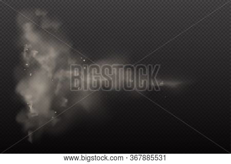 3d Yellow And Browon Dust On Vector Dark Transparent Background. Dust Dirty Cloud Particles In The A