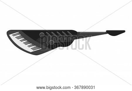 Musical Keyboard Instrument. Isolated Image Of A Styled Keyboard. Vector Illustration - Musician Equ