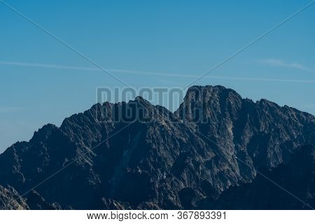 Highest Peak Of Tatra Mountains And Slovakia Named Gerlachovsky Stit And Zadny Gerlach Mountain Peak