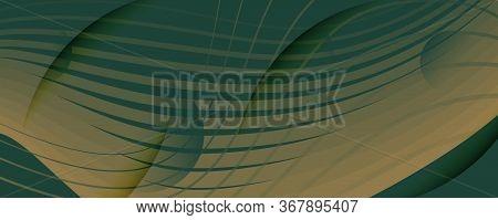 Brown Landing Page Design. Abstract Flow Shape Brochure. Curve Business Movement. Camo Dynamic Templ