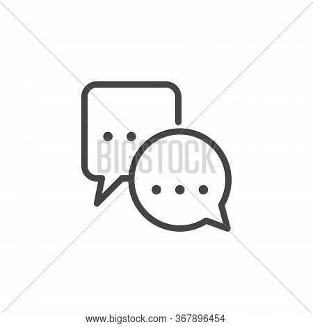 Bubble Chat Icon. Remote Communication, Distance Work And Education Concept. Label For Instant Messe