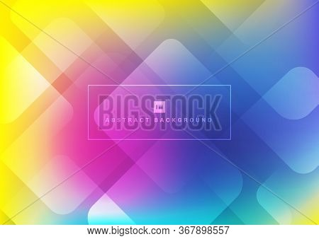 Abstract Geometric Square Shape Overlapping Layers Colorful Background. Vector Illustration