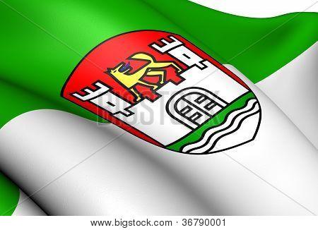 Flag Of Wolfsburg, Germany.