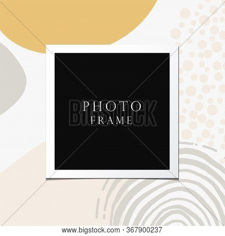 Photo Frame Vector On Beautiful Background. Modern Art Illustration. Album For Pictures And Memory.