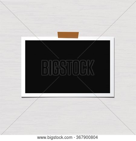 Photo Frame Vector Isolated On White Background. Old And Vintage Paper. Album For Pictures And Memor