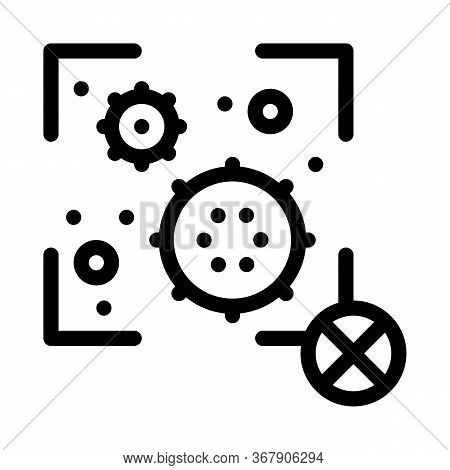 Virus Detection Icon Vector. Virus Detection Sign. Isolated Contour Symbol Illustration