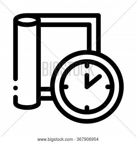 Carpet Cleaning Timeout Icon Vector. Carpet Cleaning Timeout Sign. Isolated Contour Symbol Illustrat