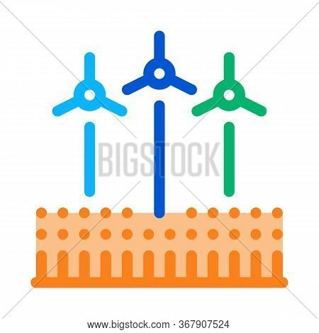 Wind Energy Technicians Icon Vector. Wind Energy Technicians Sign. Color Symbol Illustration