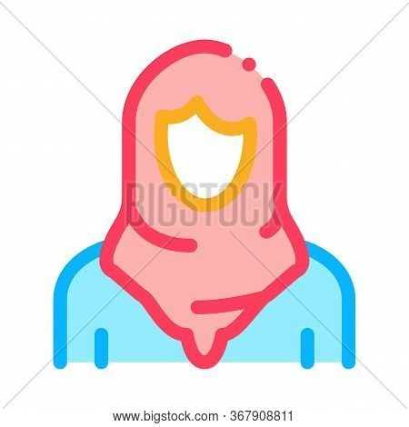 Malaysian Woman Icon Vector. Malaysian Woman Sign. Color Symbol Illustration