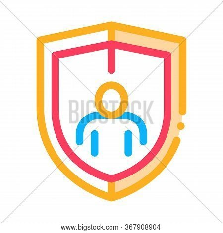 Immunity Protection Icon Vector. Immunity Protection Sign. Color Symbol Illustration