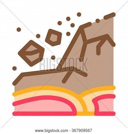 Ertnquake Highlands Icon Vector. Ertnquake Highlands Sign. Color Symbol Illustration
