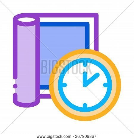 Carpet Cleaning Timeout Icon Vector. Carpet Cleaning Timeout Sign. Color Symbol Illustration