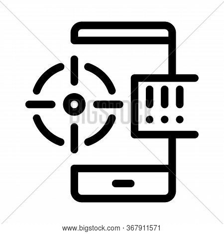 Location Search Icon Vector. Location Search Sign. Isolated Contour Symbol Illustration