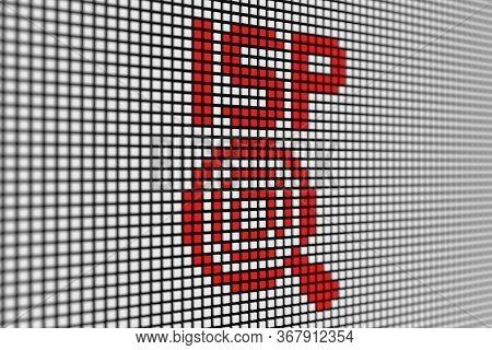 Isp Text Scoreboard Blurred Background 3d Illustration
